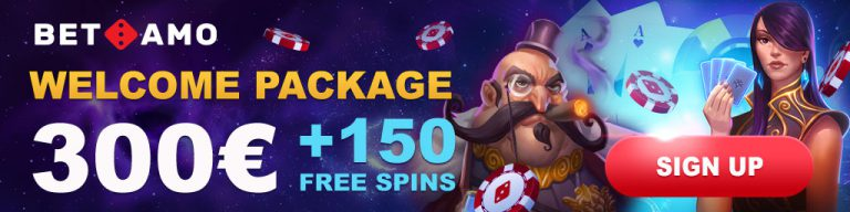 welcome package on betamo casino